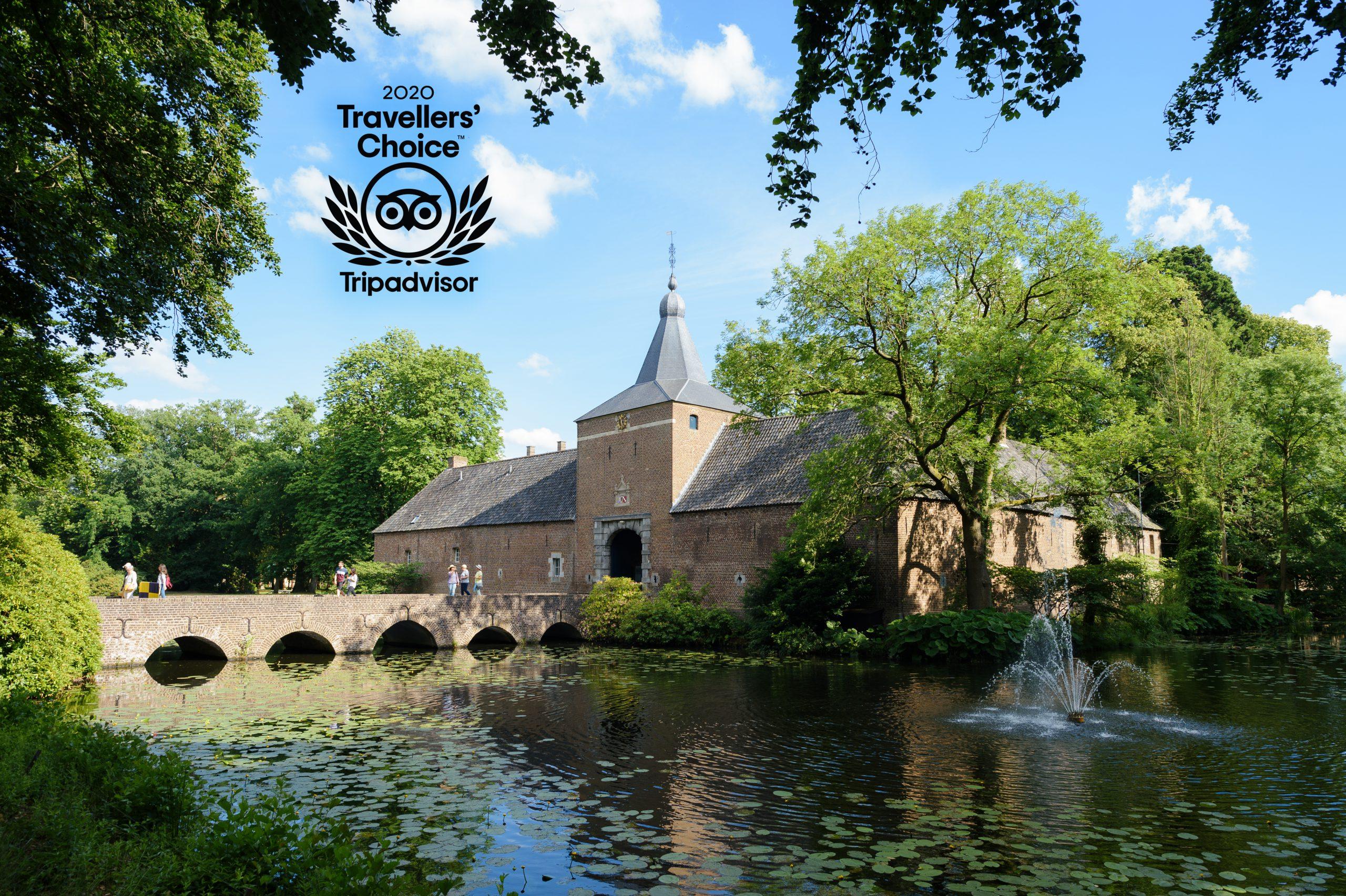 Schlossgärten Arcen mit dem Titel 'Travellers' Choice 2020' von Tripadvisor ausgezeichnet