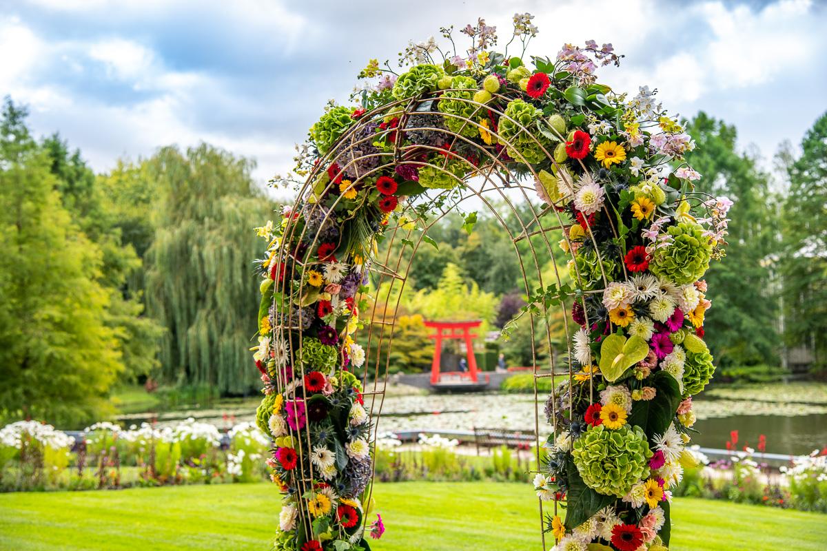 Farbenfrohe Blumenpracht beim Blumenfestival 'Blumig!' in den Schlossgärten Arcen