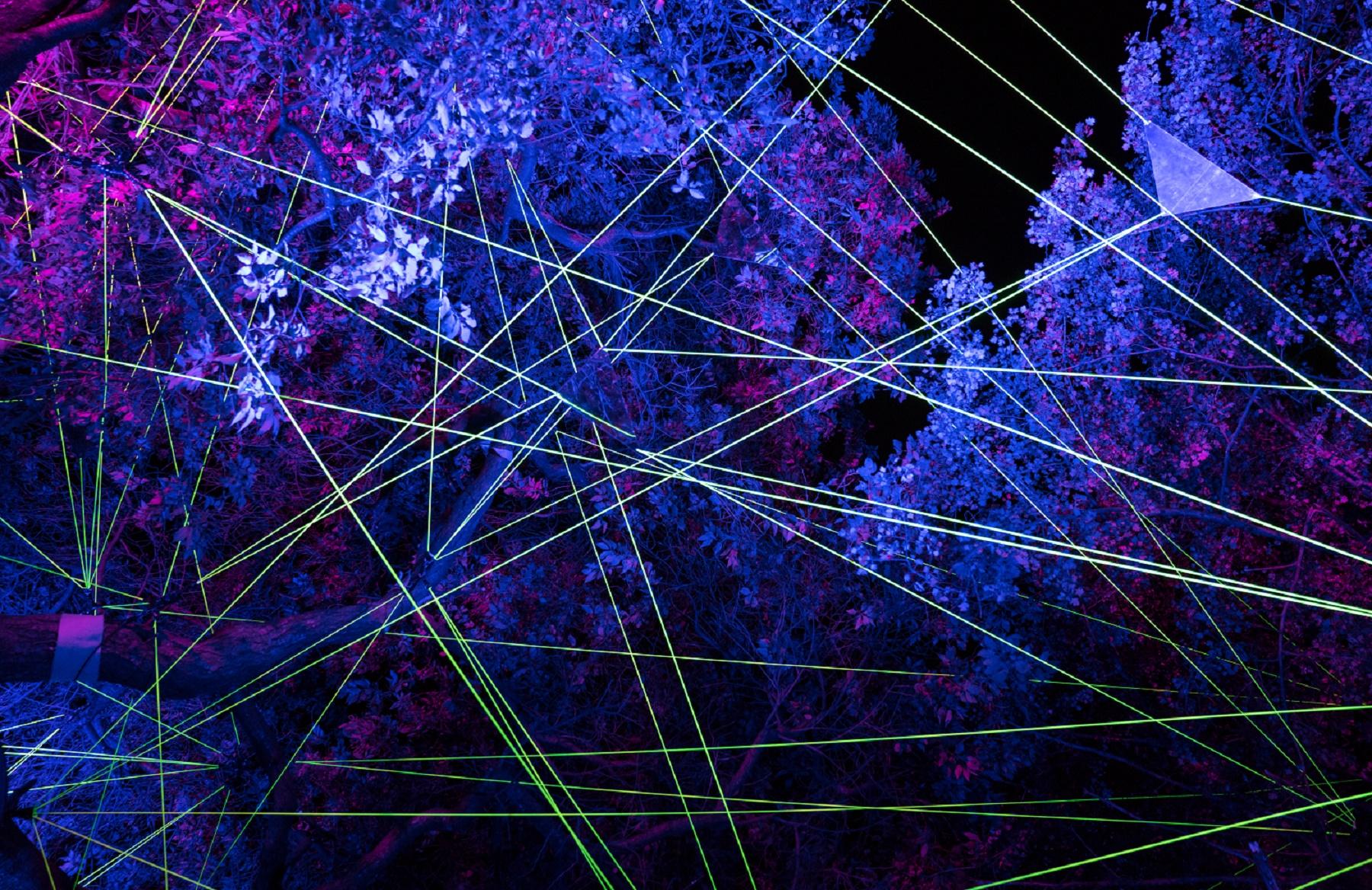 Vom 15. bis 31. Oktober Lichtkunstfestival Enchanted Gardens in den Schlossgärten Arcen